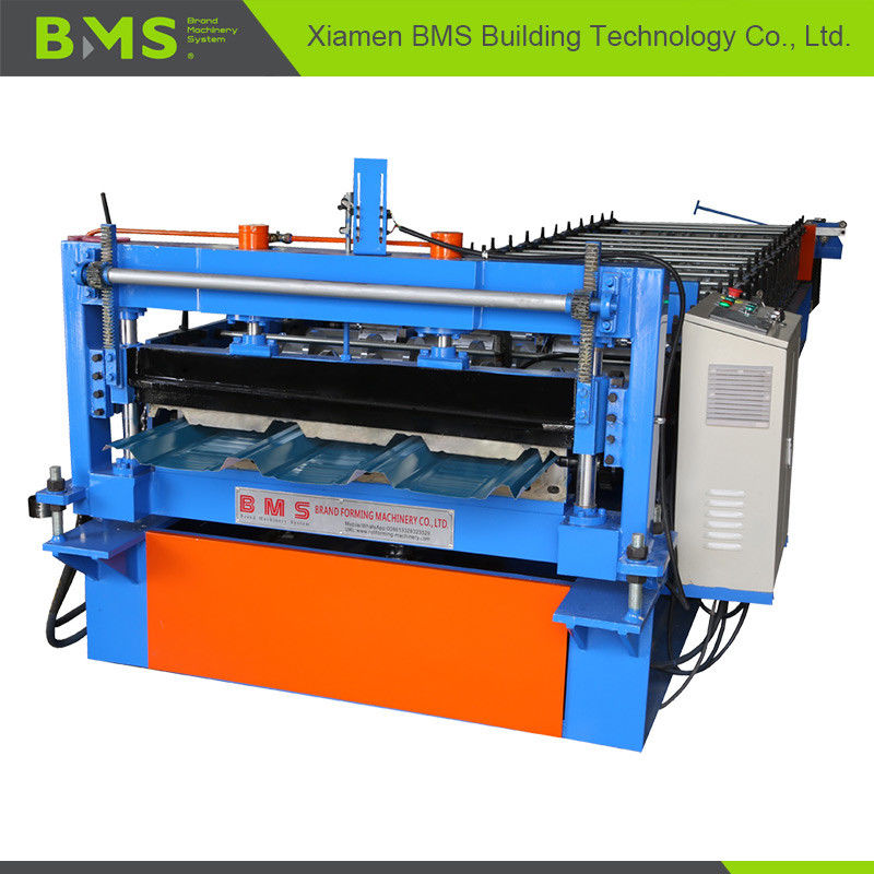 Long Lifespan Metal Roof Panel Roll Forming Machine 12-15 meters Per Minute
